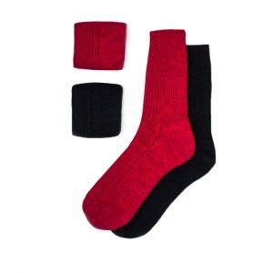 набор-полушерстяных-носков-чёрно-красный