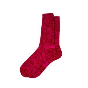 носки-полушерстяные-розовый-меланж