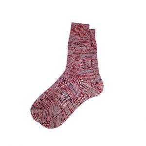 носки-хлопковые-базовые-меланж-красные
