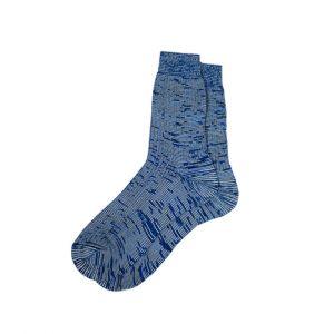 носки-хлопковые-базовые-меланж-синие