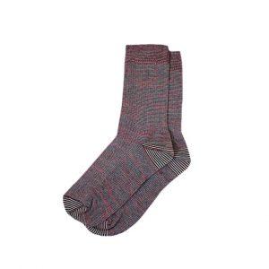 носки-хлопковые-базовые-полосатые-красные