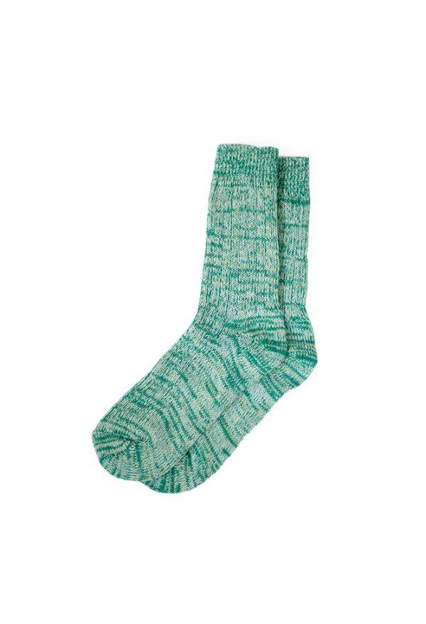 носки-шерстяные-светло-зелёные